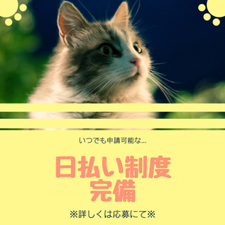 即日勤務OK◎免許不要!未経験OK☆回収作業のサポート/日払い制...