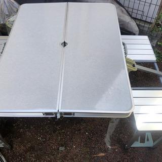 キャンプ アウトドア用一体型テーブル椅子