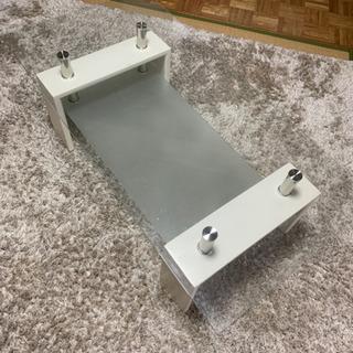 ☆かわいい ガラステーブル☆120cm×60cm ドタキャ…