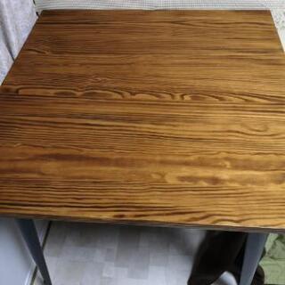 【ネット決済】無垢材ダイニングテーブル&椅子2脚