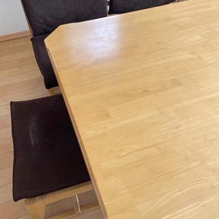 値下げ ダイニングテーブル、チェアセット 正方形の画像
