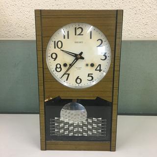 セイコー製 壁掛け時計  手巻き式 時報付き(ボンボン時計…