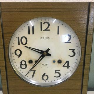 セイコー製 壁掛け時計  手巻き式 時報付き(ボンボン時計) 作動確認済みです - 高知市