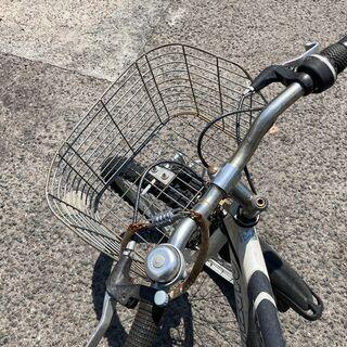 自転車 Captain Stag Shimano カゴ付き オートライト − 京都府