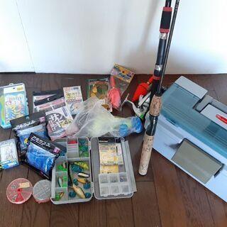 Rubbermaidツールボックス&釣り用品セット
