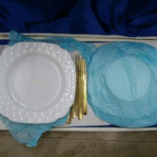 ピュアホワイトケーキ皿セット!