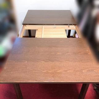 大きさ調節可能なダイニングテーブルと椅子4脚セット 半額以下です - 家具