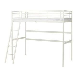 IKEA シングル ベッド 白