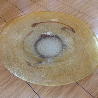 泡ガラス 大皿未使用