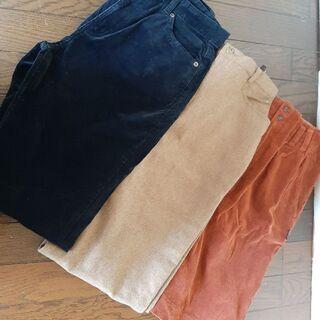 カシミア入り レディース w70 パンツ&スカート 3点セ…