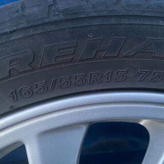ダイハツ純正15インチ 165/65/R15ホイールタイヤ4本セット - 車のパーツ