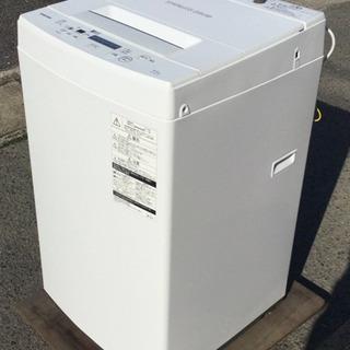 中古 2019年製 洗濯機 4.5kg 幅55  奥行53.4 ...