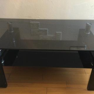 ガラステーブル ブラック