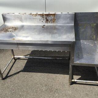 ステンレス作業台 卓上フライヤー置き 業務用 バックガード 厨房...