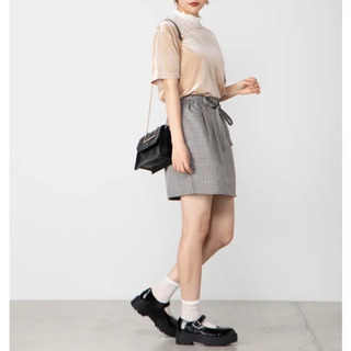 WEGO ベロアロゴTシャツ ベージュ − 滋賀県