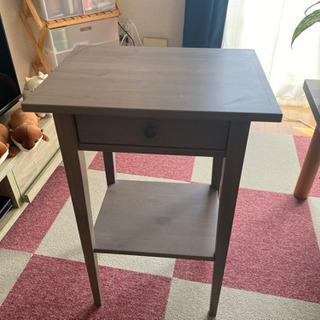 サイドテーブル ブラウン コーナーテーブル