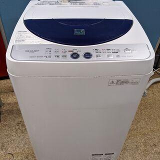 シャープ SHARP 全自動電気洗濯機 4.5kg 201…