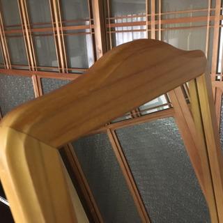 天然木フレームの姿見155cm - 家具