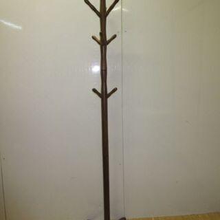 【ネット決済・配送可】0028-stp 木製 ポールハンガー ブ...