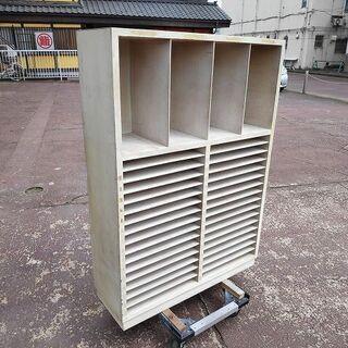 レトロ シャビー 木製書類棚『使用感あり』【リサイクルショップサルフ】