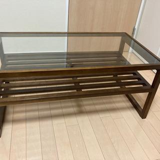 アジアンアンティークガラステーブル