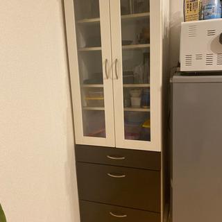 【ネット決済】モダンな食器棚☆どんなお部屋にも合いやすい!