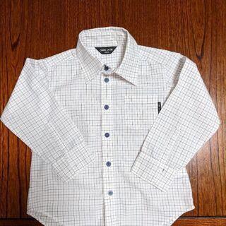 コムサイズム 長袖式服チェックシャツ100A