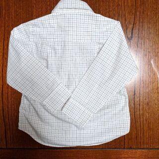 コムサイズム 長袖式服チェックシャツ100A - 那覇市