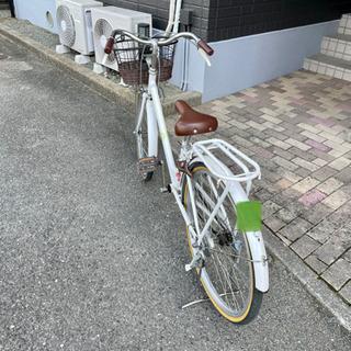 自転車24インチ白