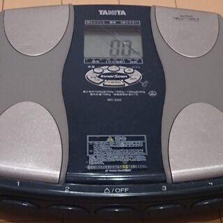 ジャンク 体重計 タニタ TANITA インナースキャン BC-522 液晶ヒビあり 体重が実際より少なく表示されますの画像