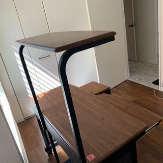 PCデスク 昇降椅子付き 収納ラックキャスター付き