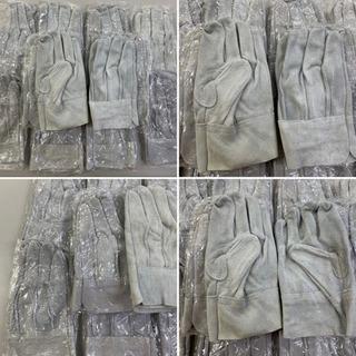 補強付きプロ仕様 革手袋 10足セット(ピンク色の斑点黴あ…