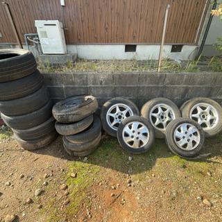 アルミと廃タイヤ
