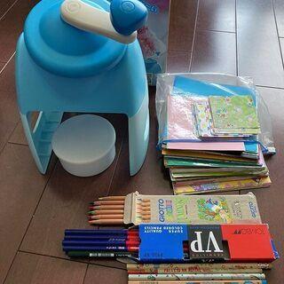 ★折り紙、鉛筆たくさん、日本製かき氷機★