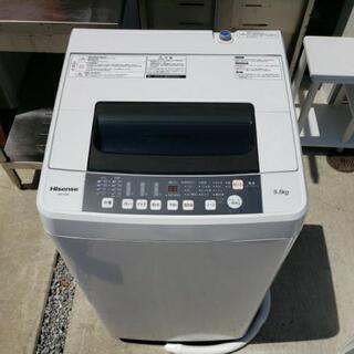 ☆美品☆ Hisense ハイセンス 5.5kg 全自動洗濯機 ...