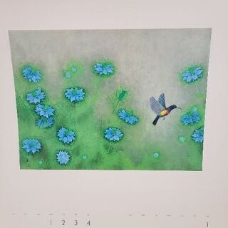 1992年のカレンダー上村松篁の絵