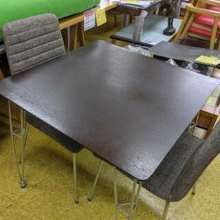 モダンなダイニングテーブル・イス3点セット