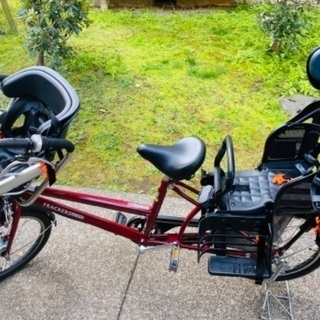 【ネット決済・配送可】子供乗せ自転車 3人乗り 【1年未満】
