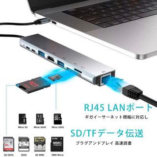 【ネット決済・配送可】USB 8in1 Type-C ハブ 4K...