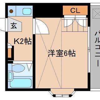 【敷礼ゼロ・即入居可】!1Kロフト付アパート。