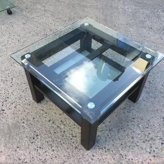 ガラステーブル W70×D70×H45