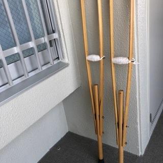 松葉杖 木製 大人用 日本製 弥生堂