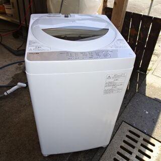 東芝 家庭用電気洗濯機 AW-5G6 2018年 USED 引取限定
