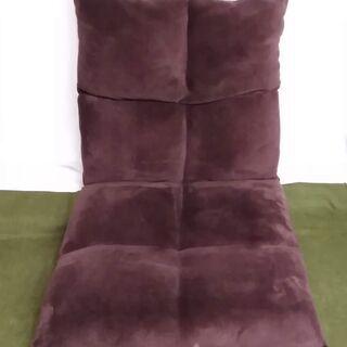 リクライニングチェアー 座椅子 茶色 ブラウン コンパクト