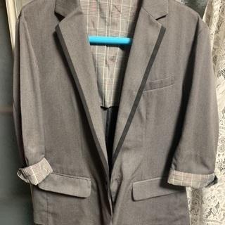 【ネット決済】中古 七分袖ジャケット グレー Mサイズ