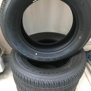 【ネット決済・配送可】タイヤ 新車外し