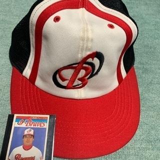 【ネット決済】中古の阪急ブレーブスの野球帽 と野球カード