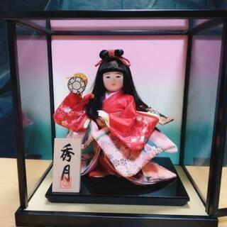 【ネット決済】日本人形 女の子 ガラスケース入り