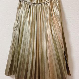 LAMIAゴールドAラインスカート【古着】