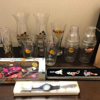 【レア商品】ハードロックカフェ グラス・ピンバッチ ・時計…